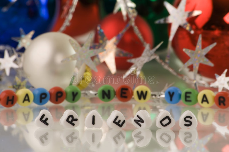 Happy New Year!, friends! royalty free stock image
