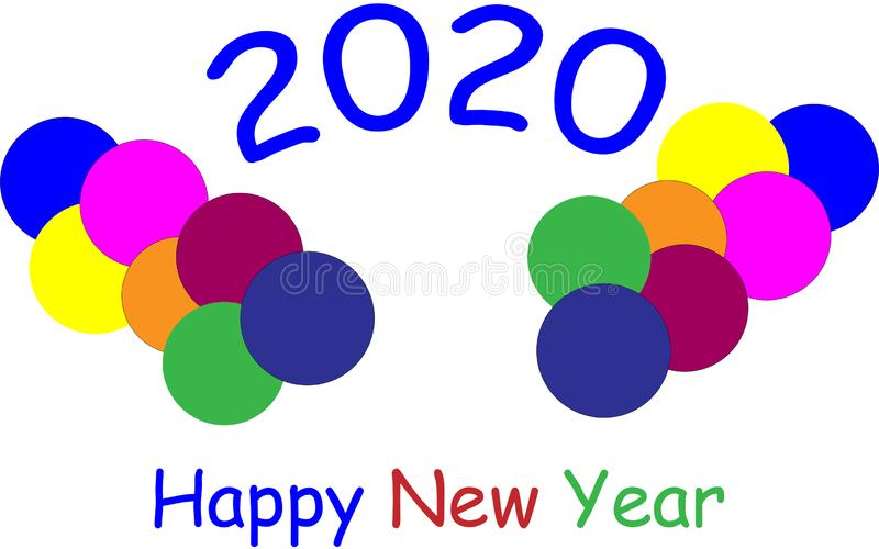 Happy New Year 2020 Graphics Background Wallpaper Greeting royalty free stock photography