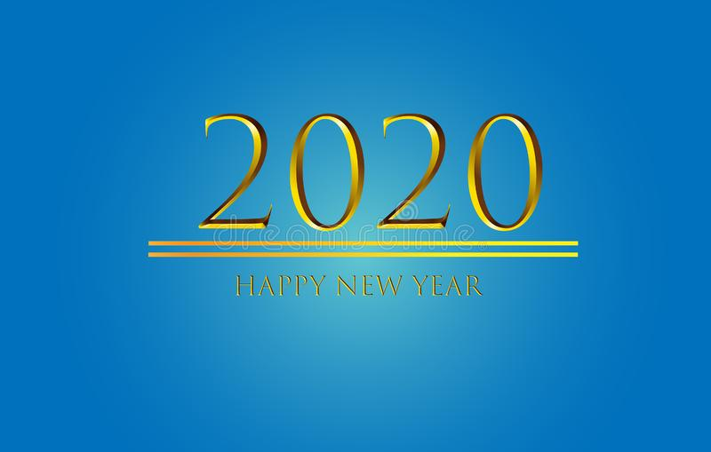 Happy New Year 2020 Graphics Background Wallpaper Greeting. Card, Presentation, Mobile Screensaver. Colorful Design Banner vector illustration