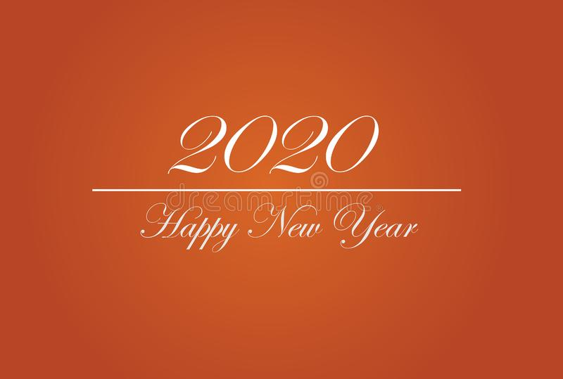 Happy New Year 2020 Graphics Background Wallpaper Greeting. Card, Presentation, Mobile Screensaver. Colorful Design Banner stock illustration