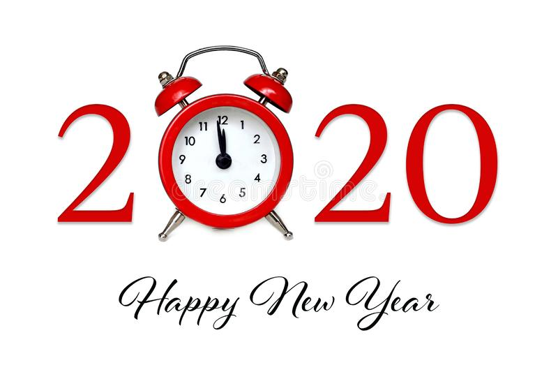 Happy New Year 2020. New Year card royalty free stock photos