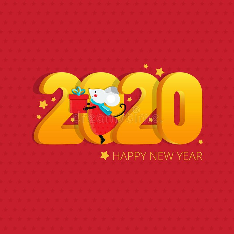2020 Happy New year greeting card design. Figures 2020 with a cheese texture. Illustration for the New Year on the vector illustration