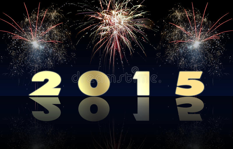 Fireworks Happy New Year 2015 royalty free stock images