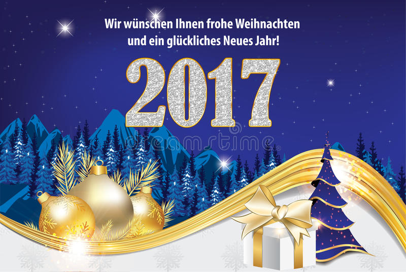 happy new year 2017 greeting card in german language stock. Black Bedroom Furniture Sets. Home Design Ideas