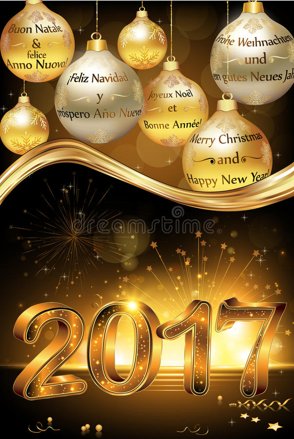Happy new year 2017 greeting card stock vector illustration of download happy new year 2017 greeting card stock vector illustration of space star m4hsunfo