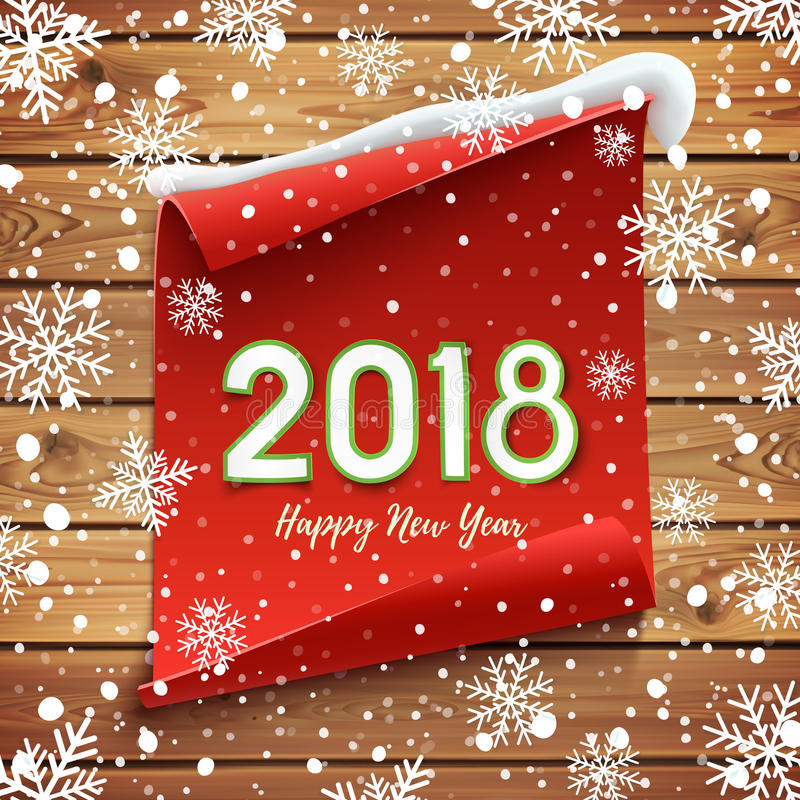 Happy New Year 2018 Greeting Card. Stock Vector ...