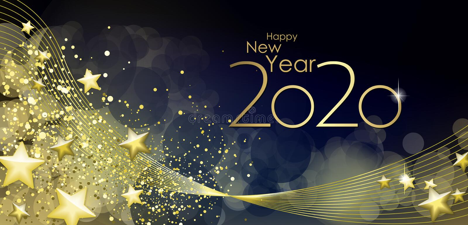 Happy New year 2020 vector illustration