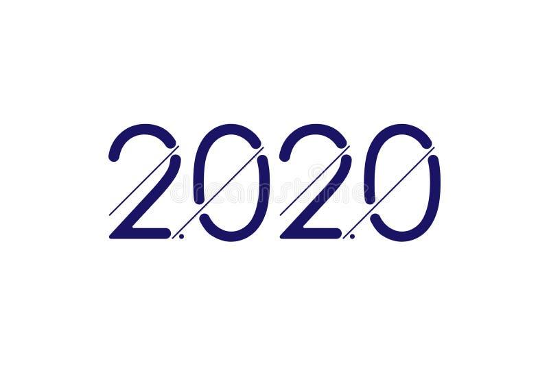 Happy New Year 2020. Greeting inscription. Flat vector illustration EPS10 stock illustration