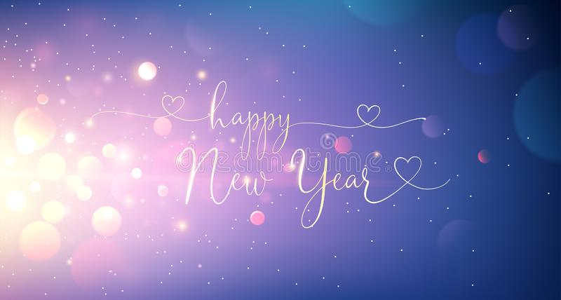 Happy New Year Greeting Text. Vector vector illustration
