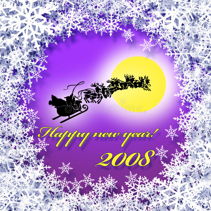Download Happy New Year Greetings Card Stock Illustration - Image: 3726429