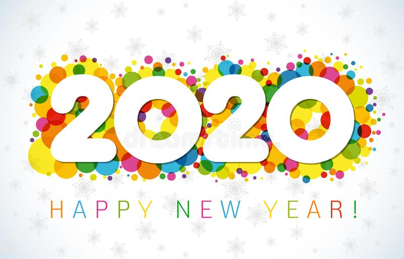 2020 A Happy New Year greetings stock illustration