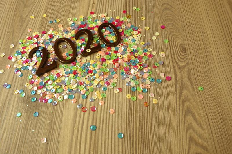 Happy New Year 2020. Background stock photography