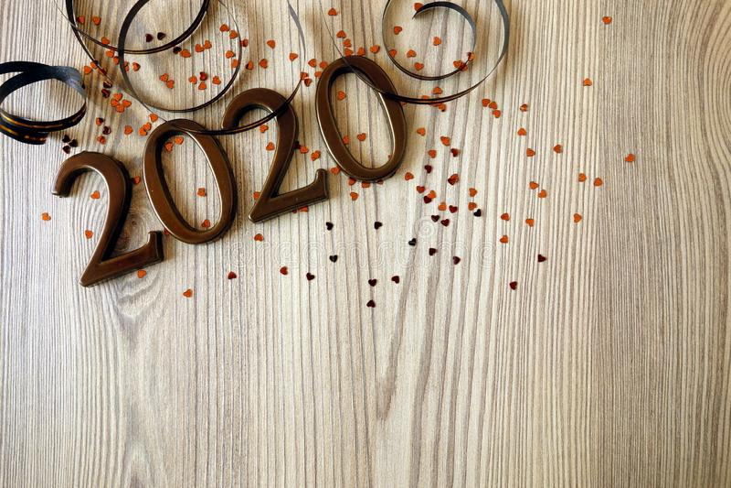 Happy New Year 2020. Celebration background stock image