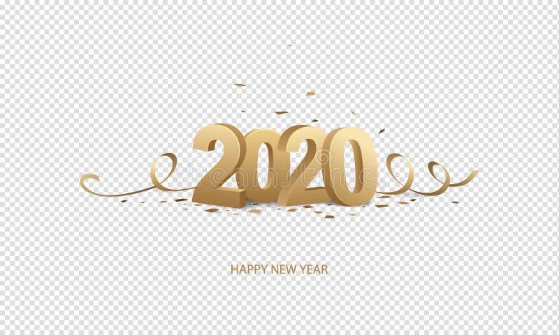 Happy New Year 2020 royalty free illustration