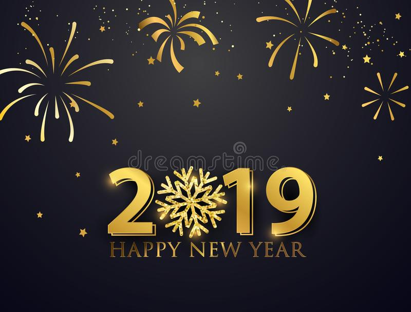 Happy New Year 2019. royalty free illustration