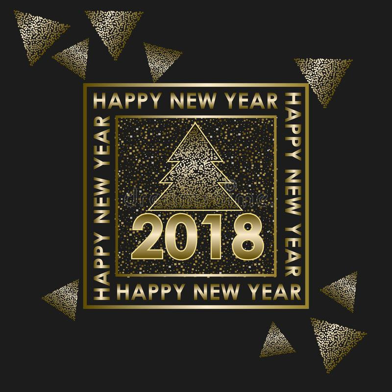 Happy New Year 2018 royalty free stock photos