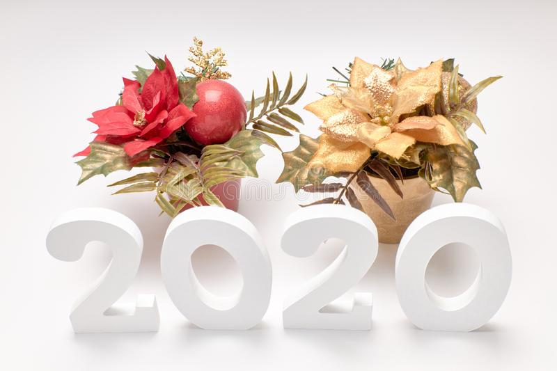 Happy New Year 2020 royalty free stock photos