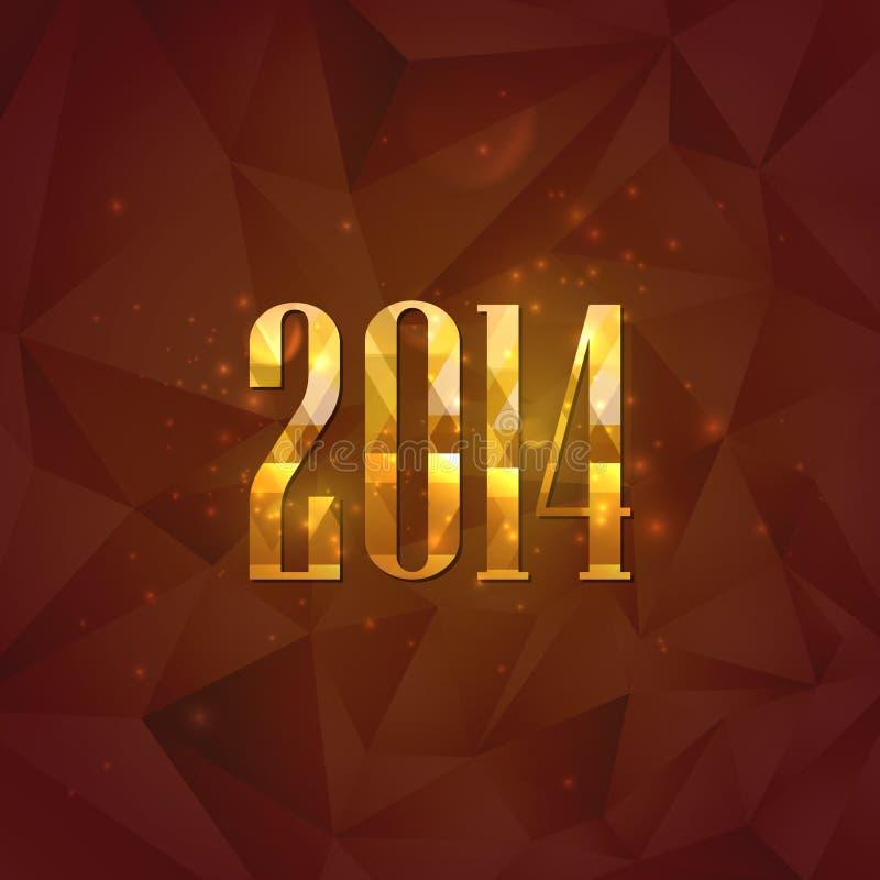 Happy new year 2014. holiday background stock illustration
