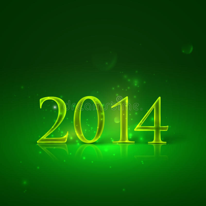 Happy new year 2014. holiday background with shiny text stock illustration