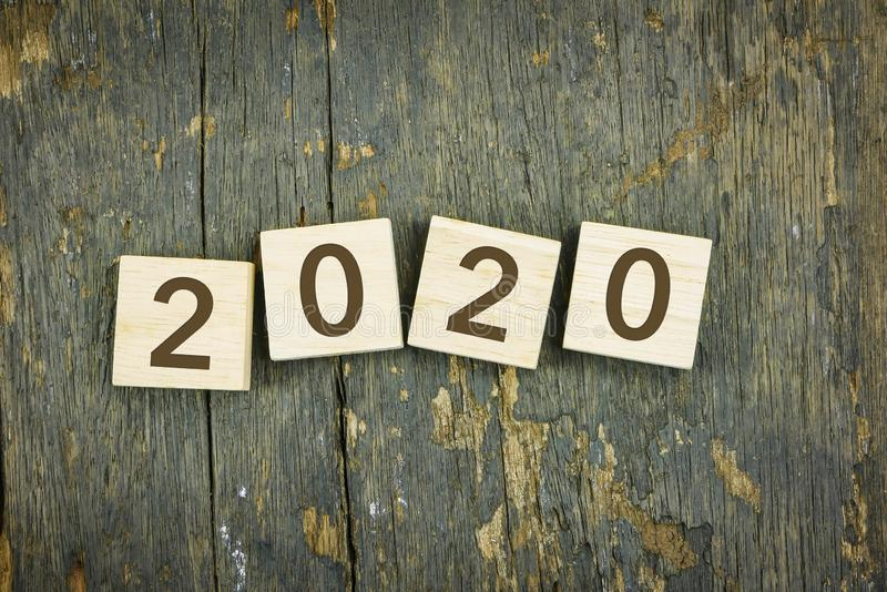 Happy 2020 new year, holiday and celebration concepts royalty free stock photos