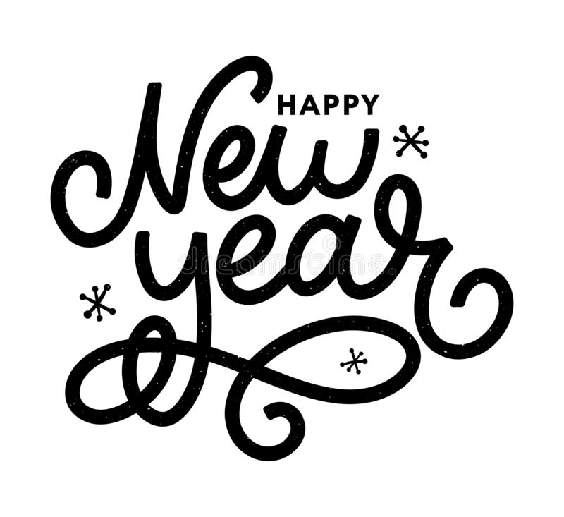 Happy New 2016 Year. Holiday Vector Illustration With Lettering Composition with burst Christmas royalty free illustration