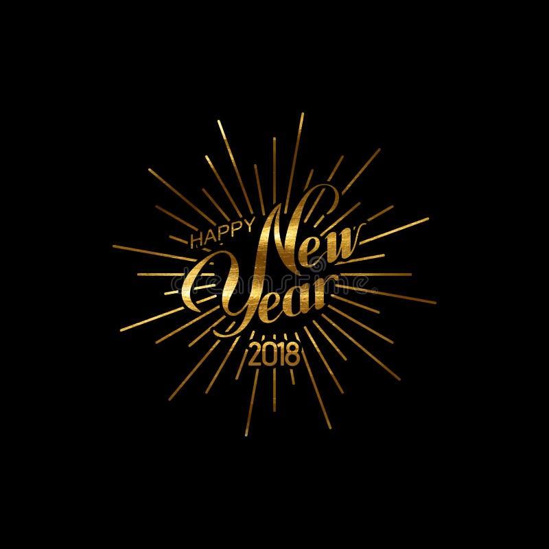 Happy 2018 New Year. stock illustration