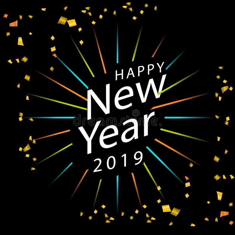 Happy New Year 2019 icon. Happy New Year 2019 vector icon stock illustration