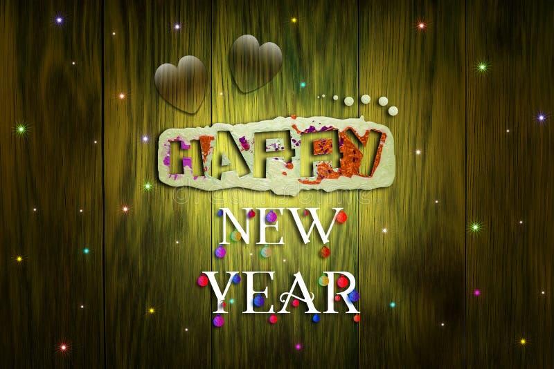 Happy new year illustration stock photo