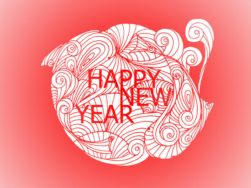 Happy New Year Japanese Style And Chinese Style Stock Illustration ...