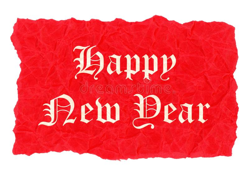 Happy new year label stock illustration