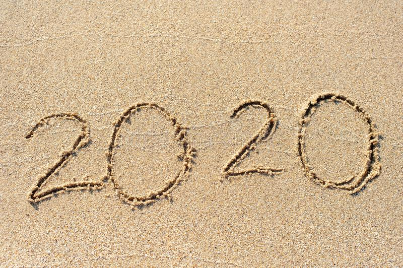 2020 new year concept stock image