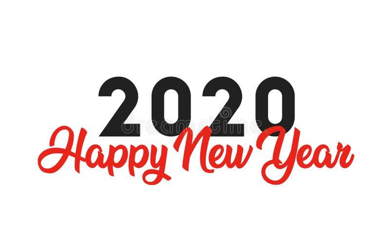 Happy New Year 2020 logo text design. Brochure design template, card, banner. Vector illustration stock illustration