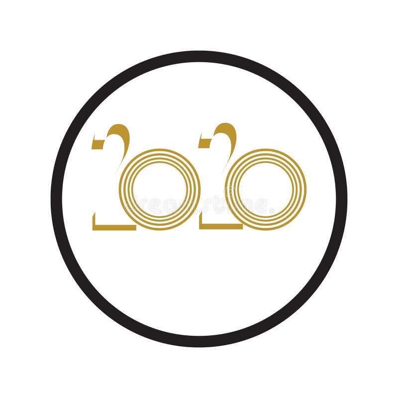 Happy New Year 2020 logo text design vector illustration - vector vector illustration