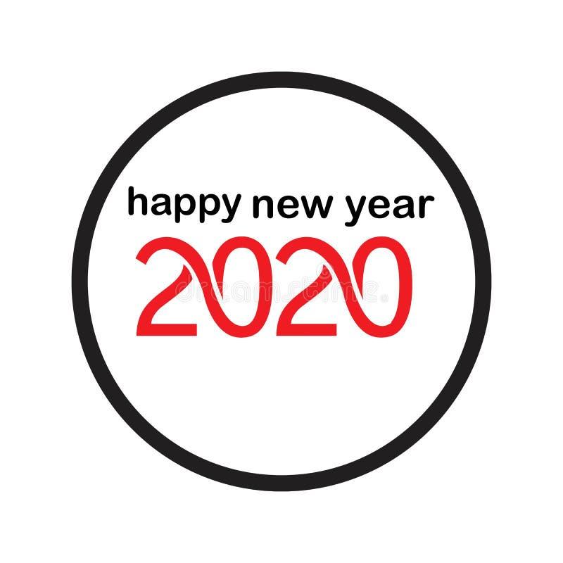 Happy New Year 2020 logo text design vector illustration - vector royalty free illustration