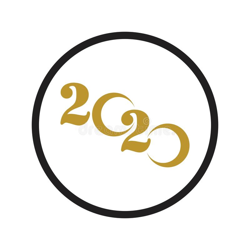 Happy New Year 2020 logo text design vector illustration - vector stock illustration