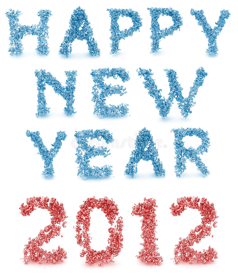 Download Happy New Year Made From 3d Letters Stock Illustration - Illustration of figure, decorative: 22546930
