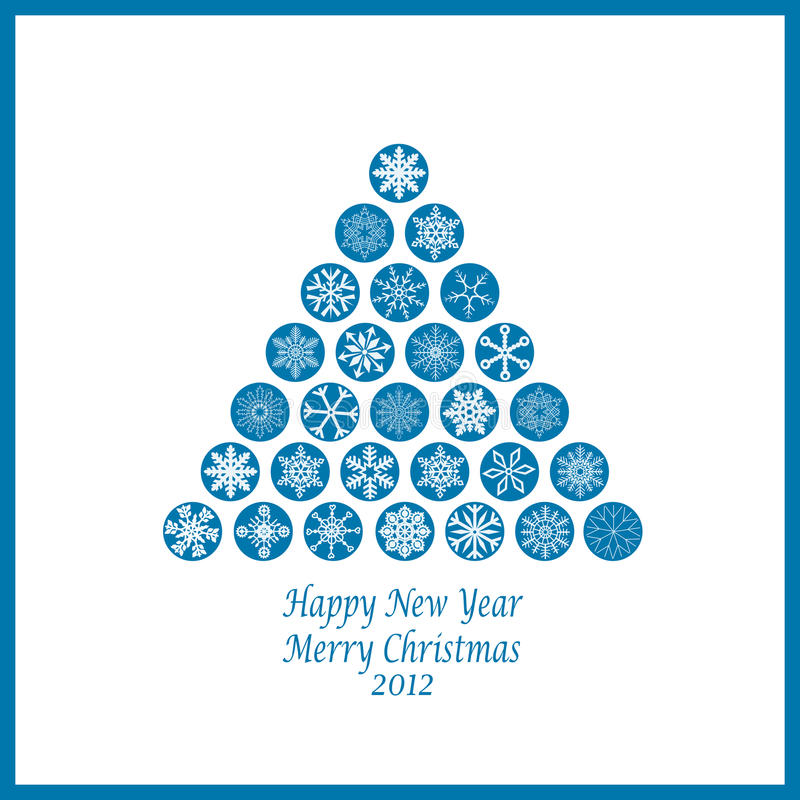 Happy New Year & Merry Christmas royalty free stock photos