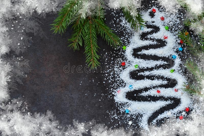 Happy New Year and Merry Christmas. Abstract, adorable Christmas royalty free stock photo