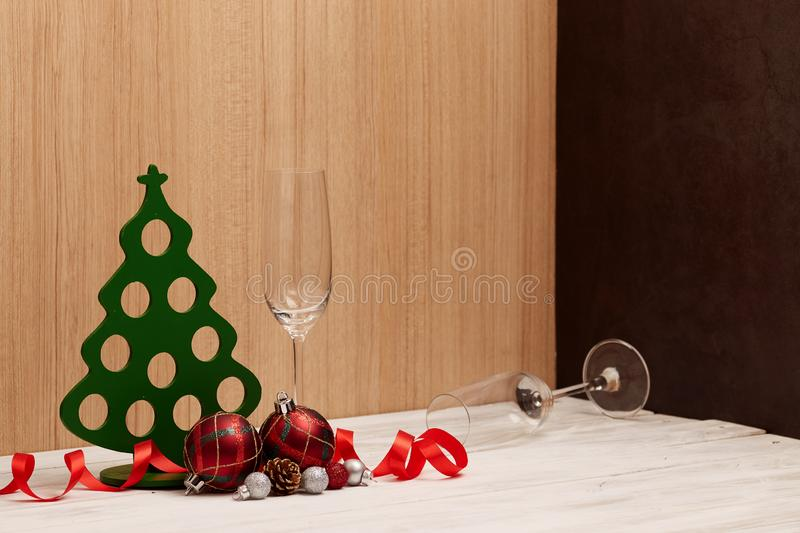 happy new year and Merry Christmas background royalty free stock photo