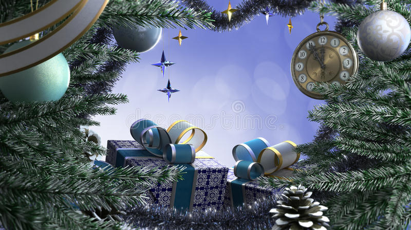 Download Happy New Year And Merry Christmas Border Stock Illustration - Image: 28195748