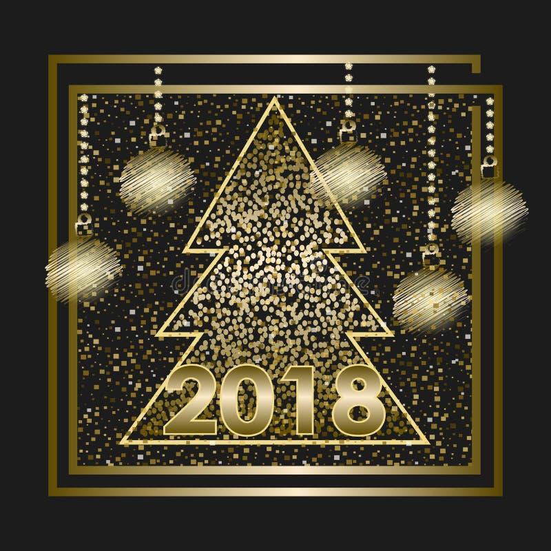 Happy New Year 2018_2 royalty free stock photos