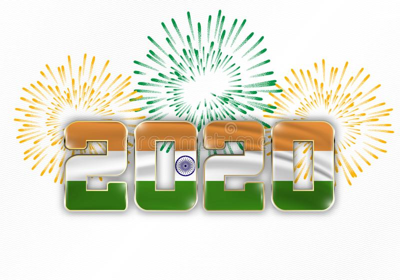 Happy New Year And Merry Christmas 2020 Stock Illustration