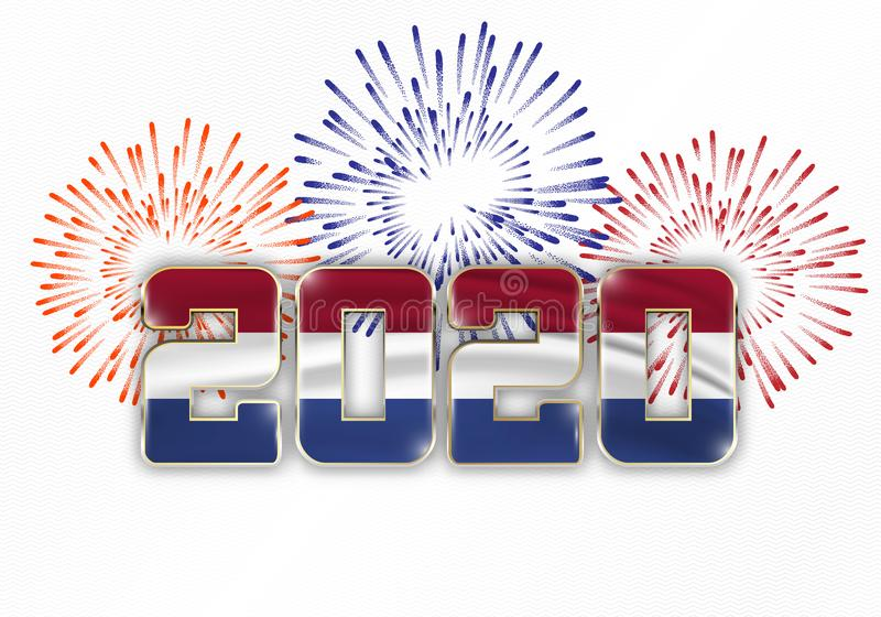 Happy New Year and Merry Christmas 2020 stock photo