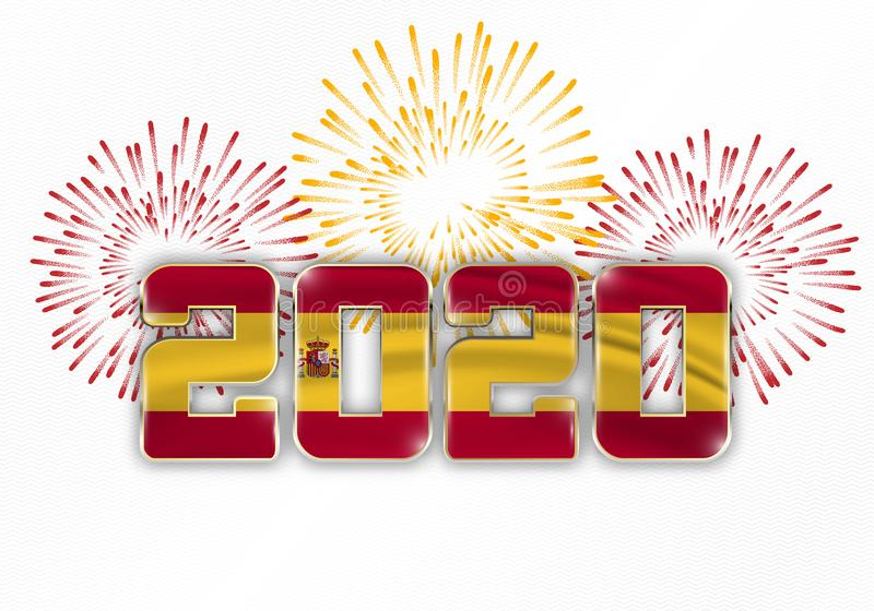 Happy New Year and Merry Christmas 2020 royalty free stock photo