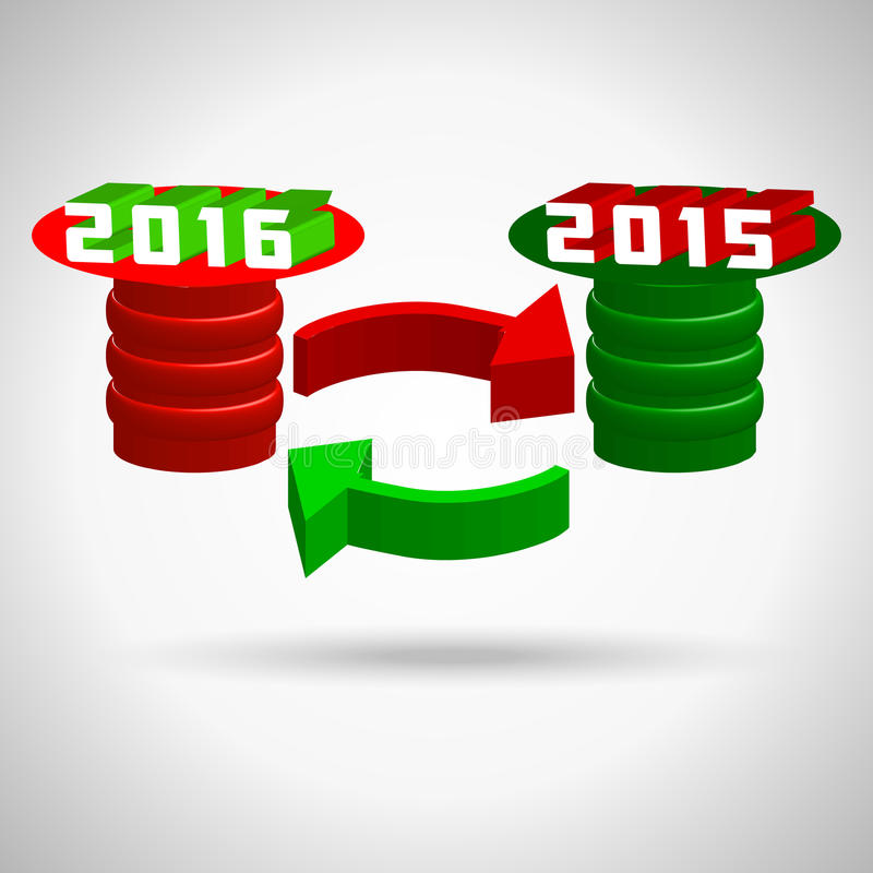 2016, happy new year, merry christmas holiday stock illustration