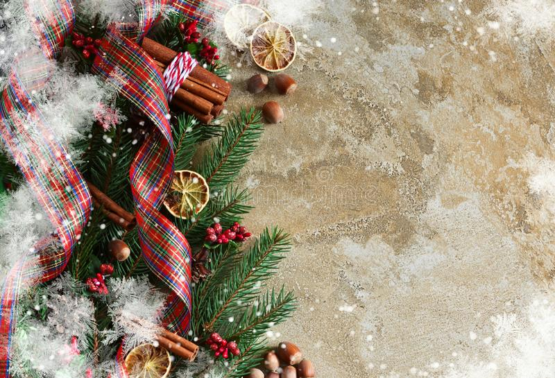 Happy New Year and Merry Christmas. New-year concrete background royalty free stock image