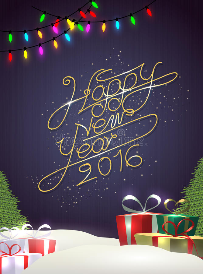 Happy new year modern background with element royalty free illustration