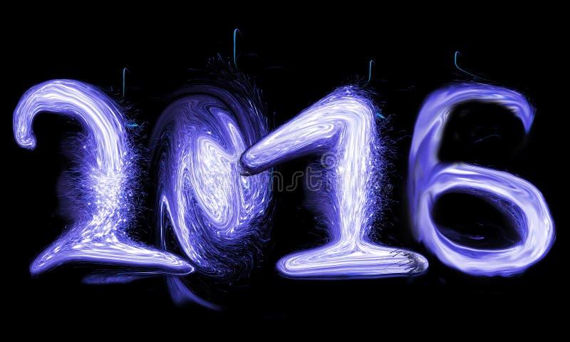 Happy New Year 2016. Neon light royalty free stock photos
