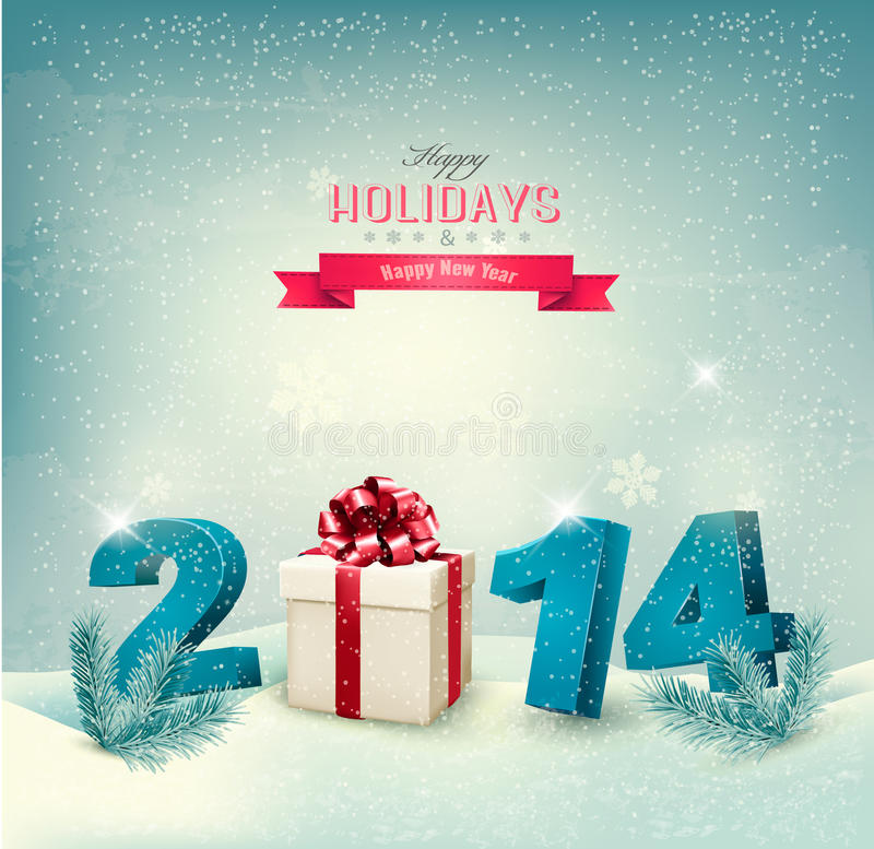 Happy new year 2014! New year design template royalty free illustration