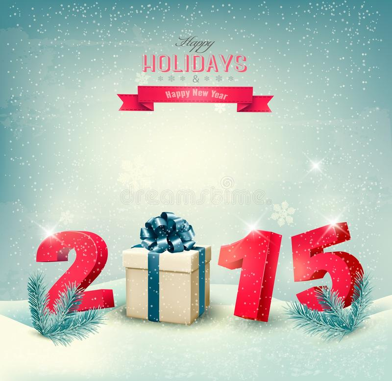 Happy new year 2015! New year design template. Vector illustration stock illustration